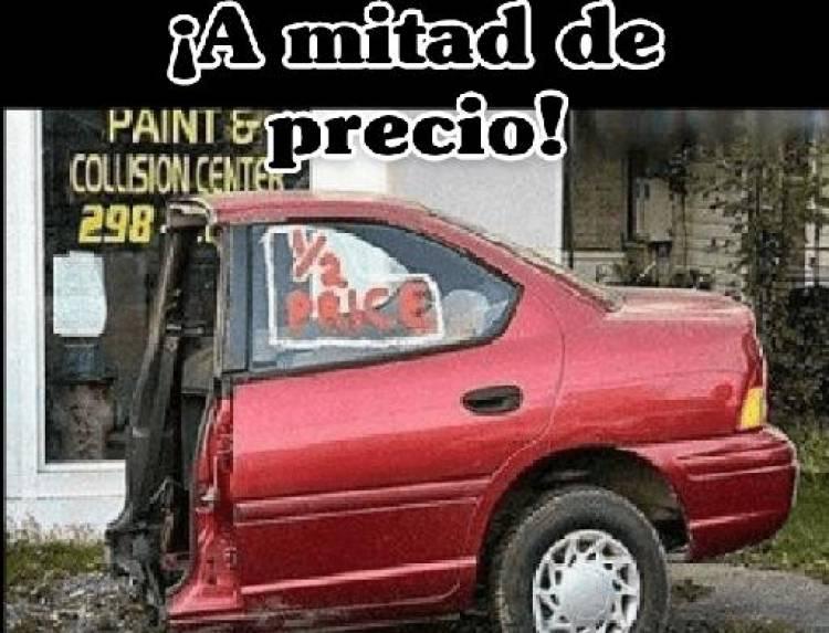 A MITAD DE PRECIO